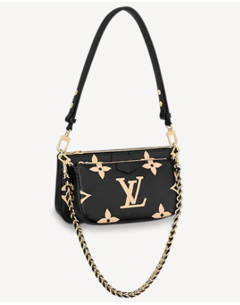 Louis Vuitton MULTI POCHETTE ACCESSOIRES M45777 Black&Cream