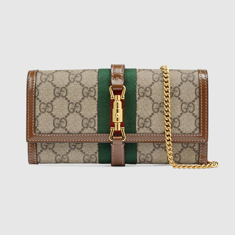 Gucci Jackie 1961 chain wallet 652681 Brown