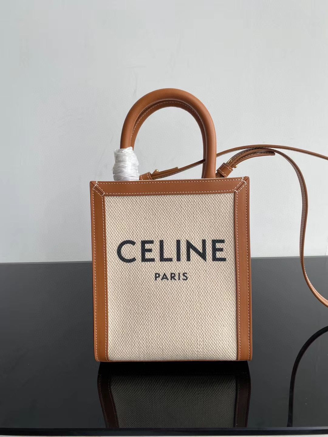 Celine MINI CABAS VERTICAL IN TRIOMPHE CANVAS CL01541 Brown