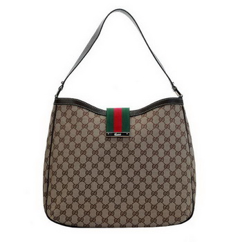 Gucci 233604 F4CBG 9793 New Ladies Web Large Hobo Bag