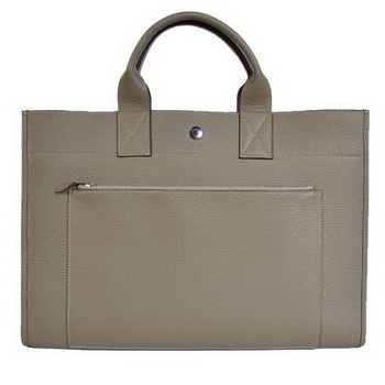 Hermes Briefcase 40CM Clemence Leather Bag Grey