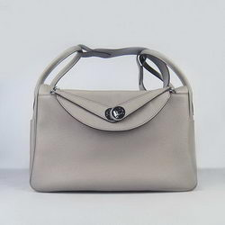 Hermes Lindy 34CM Shoulder Bag Grey