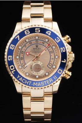 Rolex Yacht-Master II Blue Bezel&Golden Surface Watch-RY3339