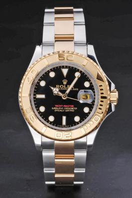 Rolex Yacht-Master II Golden Bezel&Black Surface Watch-RY3903