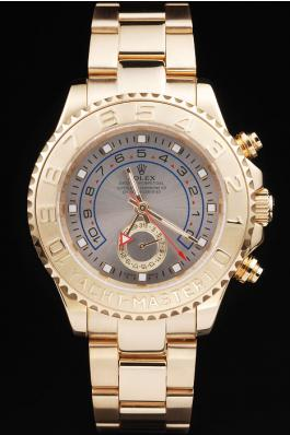 Rolex Yacht-Master II Golden Bezel&White Surface Men Watch-RY333