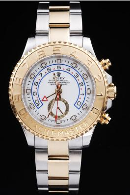 Rolex Yacht-Master II Golden Bezel&White Surface Watch-RY3331
