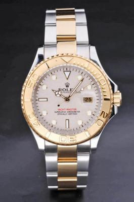 Rolex Yacht-Master II Golden Bezel&White Surface Watch-RY3746