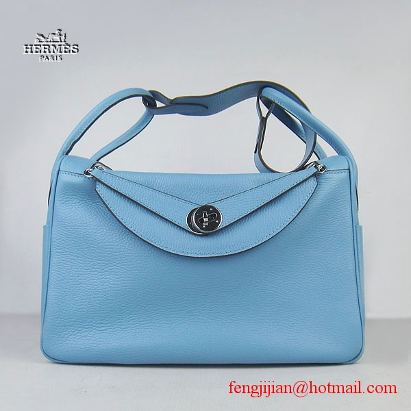 Hermes Women Shoulder Bag Light Blue 6208