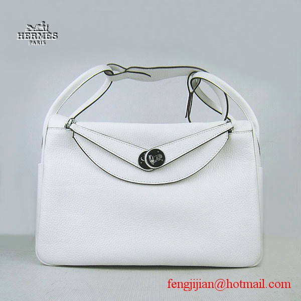 Hermes Women Shoulder Bag White 6208