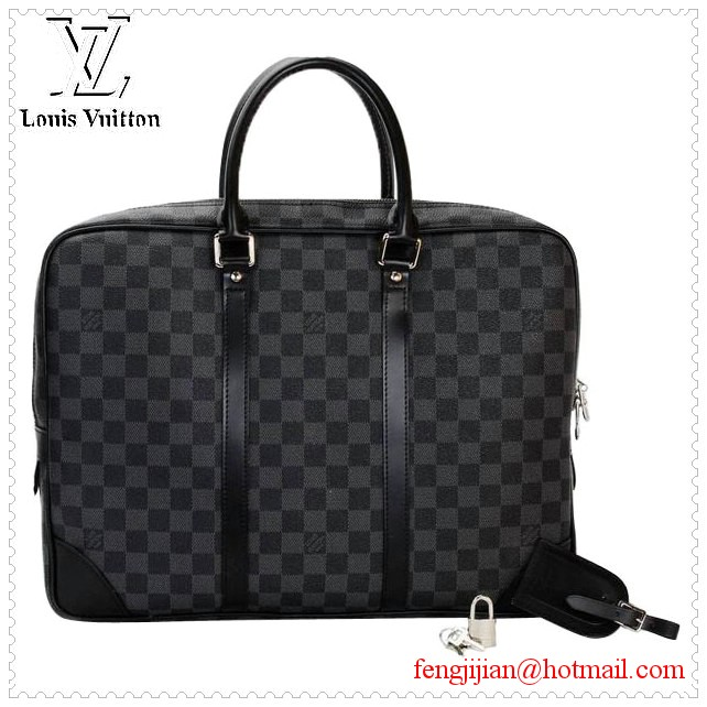 Louis Vuitton Damier Graphite Canvas Porte Documents Voyage GM N41123