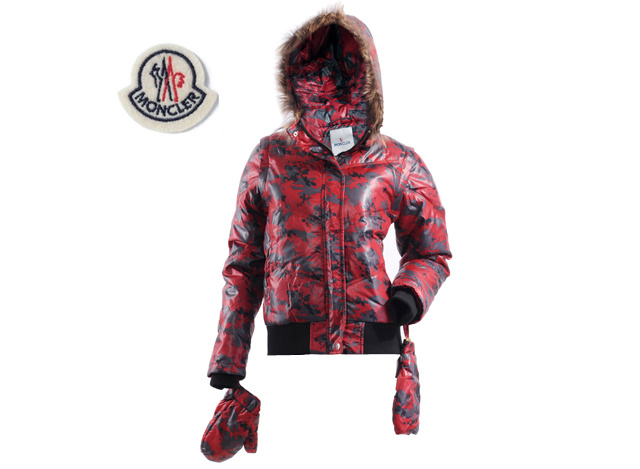 Moncler Branson Womens Down Jacket Red