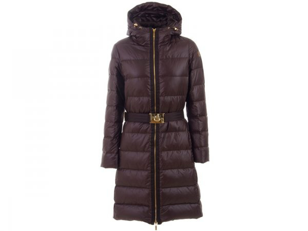 Moncler Nantes Hooded Womens Down Coat Coffee