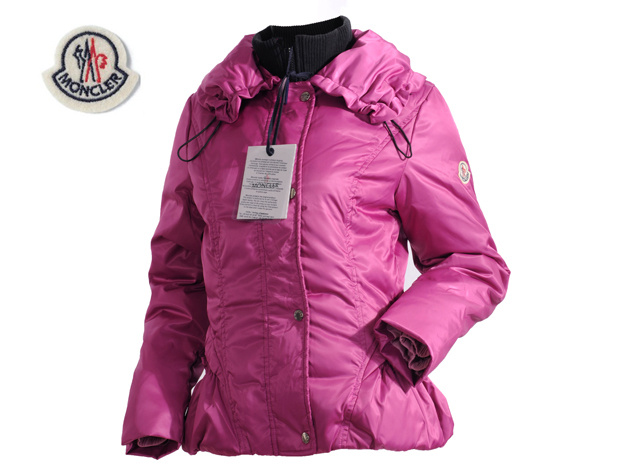 Moncler Womens Down Jacket Lapel Pink