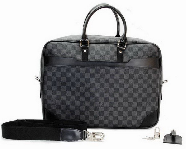 Louis Vuitton Damier Graphite Canvas Popte-Documents Voyage GM N41123